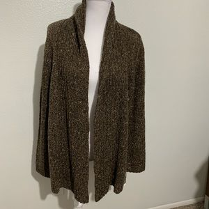 NWT - Charter Club Brown Open-Front Cardigan